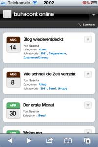 Screenshot von WPtouch
