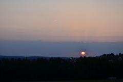 Sonnenaufgang über Pforzheim